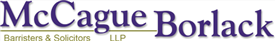 Firm logo for McCague Borlack LLP