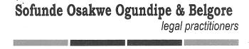 Sofunde Osakwe Ogundipe & Belgore logo