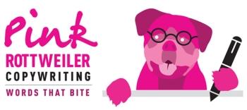 Pink Rottweiler Copywriting logo