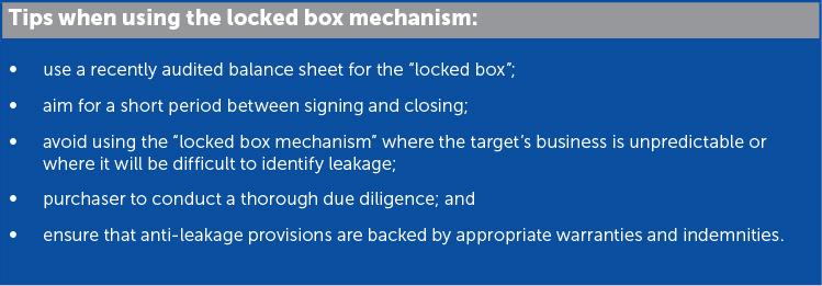 Practical M&A: Locked box mechanism explained - Lexology