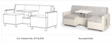Itc Rejects Sofa Design Patent Infringement On Prosecution History