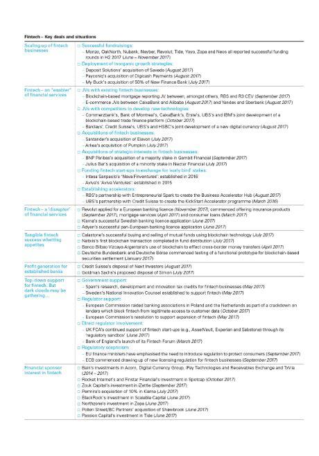 Financial institutions M&A trends: Fintech - Lexology